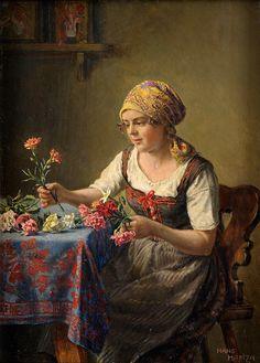 Hans Hamza. The Pretty Flower girl