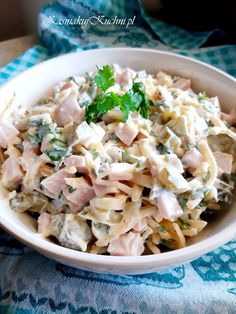 Salad Dishes, Salads, Cooking Recipes, Healthy Recipes, Polish Recipes, Kraut, Pasta Salad, Salad Recipes, Potato Salad