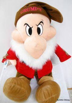 Disney Plush 25in GRUMPY Snow White and the Seven Dwarfs Doll RETIRED #disneyplush #grumpy