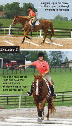 Leg position Exercise Leg Position Practice - Art Of Equitation Horseback Riding Tips, Horse Riding Tips, Riding Gear, Riding Clothes, Horse Tips, Dressage, Horse Exercises, Training Exercises, Workouts