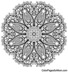 "Mandala Coloring Page 18 | free sample | Join fb grown-up coloring group: ""I Like to Color! How 'Bout You?"" https://m.facebook.com/groups/1639475759652439/?ref=ts&fref=ts"