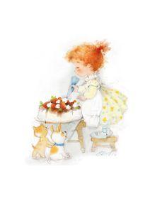 Сообщество иллюстраторов / Иллюстрации / Екатерина Бабок / Кому тортика?