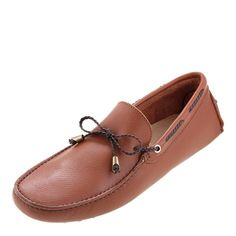 Men's leather driving shoesGripped soleBow detail to frontColour: tanUpper: leatherLining and sock: leatherSole: other materials