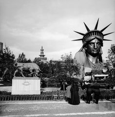 The Statue of Liberty looked pretty weird in the middle of Paris