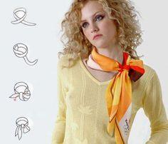 Cпособы ношения платков и шарфов: color_harmony