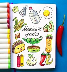 "1,804 Gostos, 17 Comentários - LEUCHTTURM1917 (@leuchtturm1917) no Instagram: ""Happy #TacoTuesday! A tasty treat from the #Leuchtturm1917 #sketchbook of @alexkipnis …"""