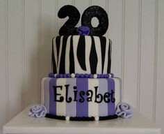 Image result for 20th birthday cake