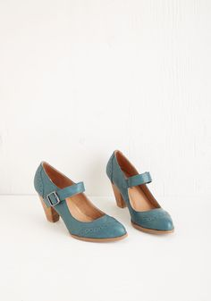 Tap of Luxury Heel in Lagoon. You want to click your heels and do a little jig each time you step into these teal-blue pumps by Chelsea Crew! #blue #wedding #modcloth