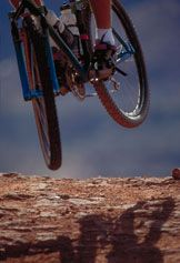 Mountain bike jump for joy