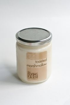 Toasted Marshmallow Soy Candle - Strongly Scented Natural Soy Candles in Jar on Etsy, $18.50
