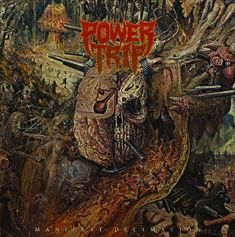 Power Trip Manifest Decimation Vinyl LP Drawing from the sacred texts of the Cro-Mags, Vio-lence, Leeway, Exodus and Nuclear Assault, Texas savages Power Vampires, Nuclear Assault, Heavy Metal Art, Power Trip, Vinyl Lp, Vinyl Records, Metal Albums, Music Album Covers, Thrash Metal