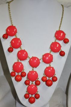 Bubbalicious Coral Bubble Necklace  $19.95  http://www.giddyupglamouronline.com/catalog.php?item=6471