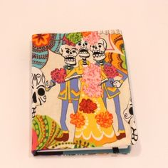 I love this Day of The Dead fabric diary cover....and reversible too! From Kate's Curios