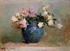 ❀ Blooming Brushwork ❀ - garden and still life flower paintings - Abbott Handerson Thayer