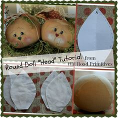 ***NEW*** Round Doll Head Tutorial from Old Road Primitives