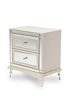 Shop the Hollywood Loft Upholstered Nightstand (Frost) by Michael Amini at Furnitureland South, the World's Largest Furniture Store and North Carolina's Premiere Furniture Showroom. Mirrored Furniture, Large Furniture, Cheap Furniture, Discount Furniture, Loft Furniture, Furniture Logo, Furniture Storage, Upholstered Furniture, Wooden Furniture