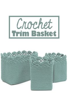 Crochet Trim Basket is unique and can help you to organize toys, clothes etc. | knitting and crochet | DIY crochet #Ad
