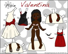 My Valentine's day paper doll from 2010 with three different formal dresses.
