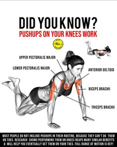 Doing the same old push-ups day in and day out can feel a little boring so were here to shake things up. Variety can s. Fitness Facts, Fitness Tips, Fitness Motivation, Muscle Fitness, At Home Workout Plan, At Home Workouts, Leg Workout With Bands, How To Grow Taller, Yoga