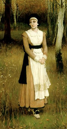 Rose Standish by George Henry Boughton came on the Mayflower with husband Myles Standish, and died the first winter on 29 January 1620/1