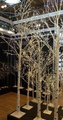 White 14 Trees Reception Decoration | Pinterest | Reception ...