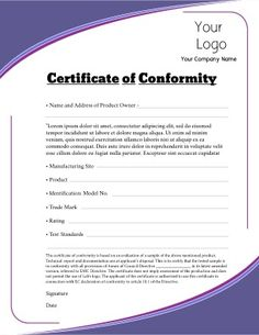 1000 images about certificate templates on pinterest for Certificate of conformance template