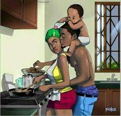 Ghanaians Have A Lot Of Feelings About This Simple Illustration By Poka Arts – Design You Trust Black Love Art, Black Girl Art, Black Is Beautiful, Black Girl Magic, Beautiful Family, Poka Arts, Couple Noir, Beste Comics, Natural Hair Art