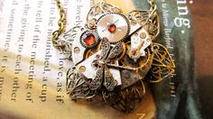 Steampunk Jewelry Clock Gears Pendant Authentic by WuzzysCreations, $60.00