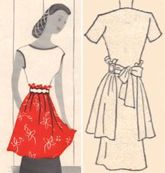 I might have gotten a little obsessed with retro apron patterns