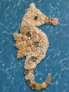 Hippocampe Wall Decor hippocampe Shell Art par TheSleepySeahorse
