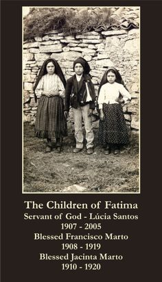 February 20th: Feast of Blessed Jacinta Marto...one of the Children of Fatima