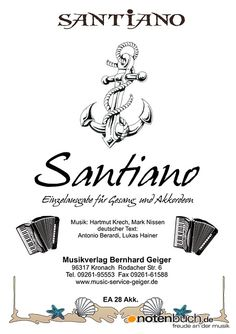 Die Einzelausgabe der Erfolgsband Santiano nun bei uns im Online-shop verfügbar! Auch für Blasmusik und Big Band erhältlich! Notenbuch.de - Freude an der Musik.