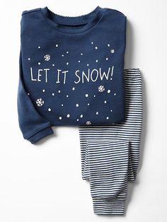 Holiday snow sleep set  Product Image 2T