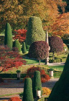Autumn, Drummond Castle Gardens, Scotland