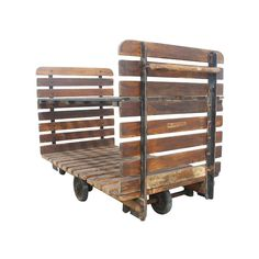 It's British, it's industrial and it's just the thing to add a punch of rustic cool to your home. Crafted from beams of wood and heavy iron, this rolling cart makes a perfect bookcase, plant stand or display rack, and I love it