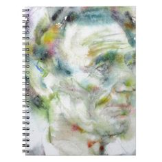 ABRAHAM LINCOLN - watercolor portrait Notebook - portrait gifts cyo diy personalize custom