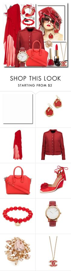 """The Beautiful Valentine!!"" by stylediva20 ❤ liked on Polyvore featuring Aurélie Bidermann, Elie Saab, Maje, Givenchy, Aquazzura, Sydney Evan, Michael Kors and Oscar de la Renta"