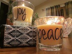 Personalized candles for the holidays!  DIY Huntress: Creative Gift Idea: Personalized Candles