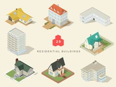 isometric maps residential buildings