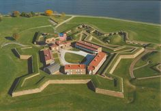 Fort McHenry, inspiration of the Stars Spangled Banner during a bombardment by the British in the War of 1812.