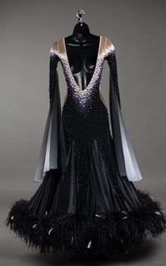 All Tomorrow's Parties, Baile Latino, American Dress, Ballroom Dance Dresses, Anime Outfits, Dance Costumes, Occasion Dresses, Dance Wear, Pearl White