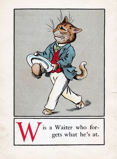 A CAT ALPHABET - W