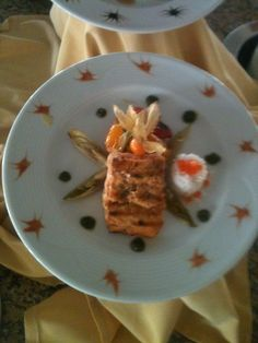Grilled fillet salmon