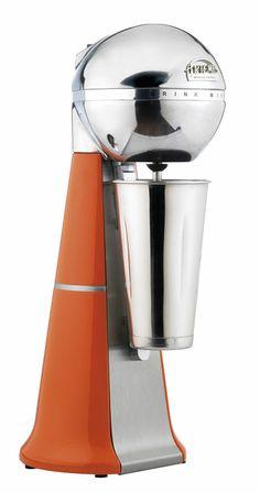 A-2001 Retro Orange ARTEMIS DRINK MIXER with inox cup.#orange