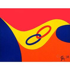 This original lithograph, Friendship Rings, was executed by Alexander Calder in 1974, under an unusual and historic partnership with the Dallas based Braniff Airlines. Braniff had hired the artist to paint their fleet of Boeing 727s and used Calder's effervescent creations in a series of advertisements. Among the lithographs Braniff also published for promotion, Friendship Rings was in The Flying Colors suite and has a wonderful blindstamp on the lower right in the shape of an airplane.