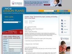 Jumping and Landing Kindergarten - 2nd Grade Lesson Plan | Lesson Planet
