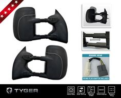 http://automotiveideas.info/tyger-oe-style-towing-mirrors-pair-kit-power-glass-dual-swing-square-plug-includes-round-plug-adaptor-fit-ford-super-duty-pickup-1999-07/- TYGER mirrors are made by the qualified manufacturer meeting with OE quality standard not like those cheap knockoffs with inferior...