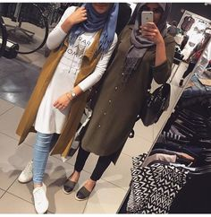 Fall hijab outfits in warm colors