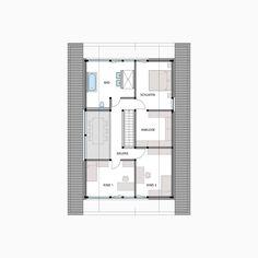 HUF Fachwerkhaus Grundriss Dachgeschoss MODUM 7:11