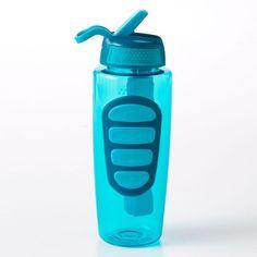 COOL GEAR Freeze BPA Free Water Bottle with Freeze Stick 32oz Green Elephants